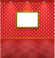 Polka dot room with frame vector