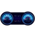 Racing car speedometer vector