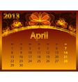2013 calendar year on the abstract orange vector