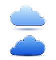 Cloud computing logo template vector