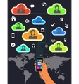 Mobile phone international roaming and teamwork vector