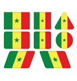 Buttons with flag of senegal vector