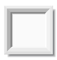 White stylish photo frame vector