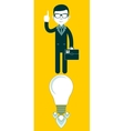 Young businessman with ideas- vector