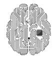 Motherboard brain vector