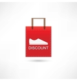 Discount shoes in a bag vector