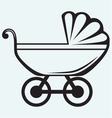 Pram baby carriage vector