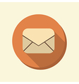 Flat web icon postal envelope vector