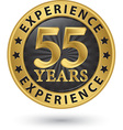 55 years experience gold label vector