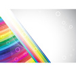 Colorful rainbow birthday banner vector