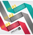 Abstract banner in three step vector