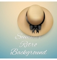 Background of summer time and beach hat vector