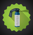 Police pepper spray flat icon background vector