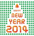 Happy new year 2014 card35 vector
