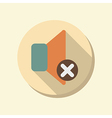 Flat circle web icon loudspeaker vector