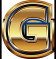 Golden font letter g vector