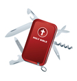 Bible swiss army knife vector