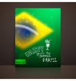 Blurred background with sparkles in brazil flag vector