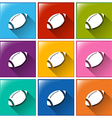 Buttons with a football equipment vector
