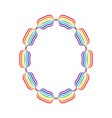 Letter o made in rainbow colors vector