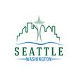 Seattle skyline design template vector