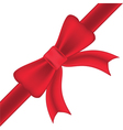 Red bow and ribbons isolated on white background vector