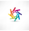 Color circle wrench icon vector