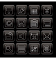 Simple business and finance icons - vector