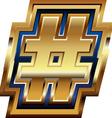 Golden number symbol vector
