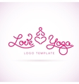 Love yoga abstract logo template vector