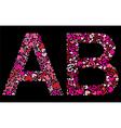 Letter a b valentine alphabet vector