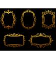 Set of vintage golden frames vector