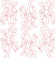 Pink orchids pattern vector