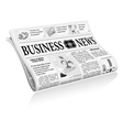 Newspaper business news vector