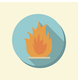 Flat web icon fire sign vector