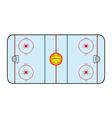 Ice hockey field vector
