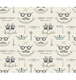 Glasses labeles sketchy drawing seamless pattern vector