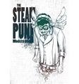 Steam punk musical poster vector