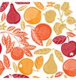 Fruit season print vector
