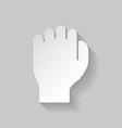 Paper fist vector