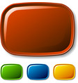Blank rounded glossy buttons vector