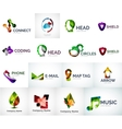 Abstract company logo collection vector
