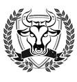 Grunge bull head emblem vector