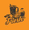 Fresh drink poster vector
