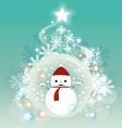 Christmas snowman background vector