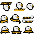 Eagle icons vector