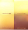 Abstract smooth blurred backgrounds set vector