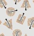 Seamless wallpaper trees vector