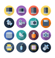 Flat design icons for technology and devices vector