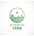 Organic farm abstract logo template vector